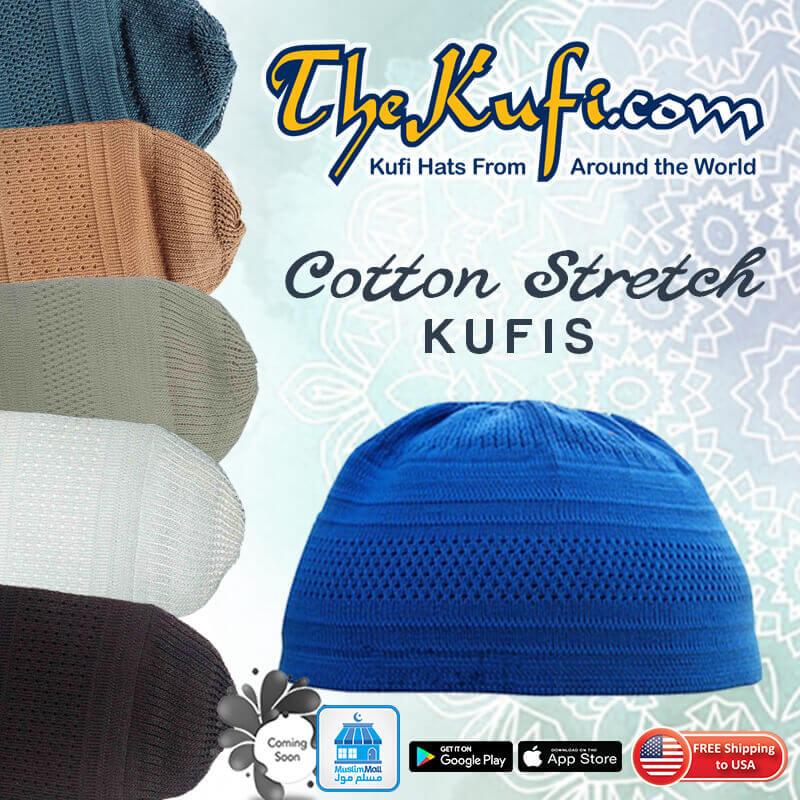 Plain Colored Cotton Stretch-Knit Kufis