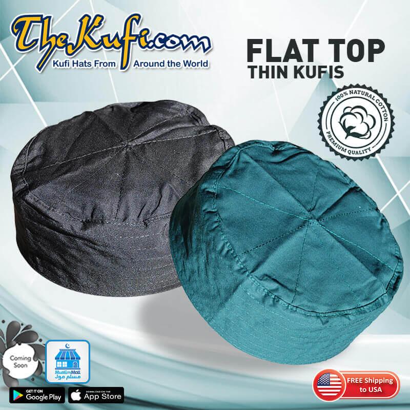flat top kufi caps