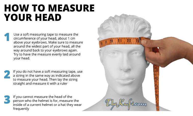TheKufi How To Measure Your Head