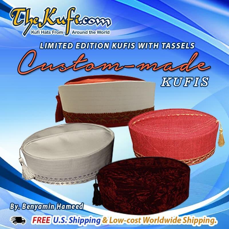 Limited Edition Cutom-made Kufis with Tassels by Benyamin Hamid