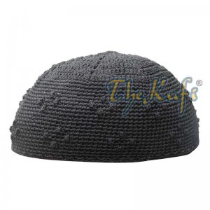 Black Crochet Knot Design Kids Kufi