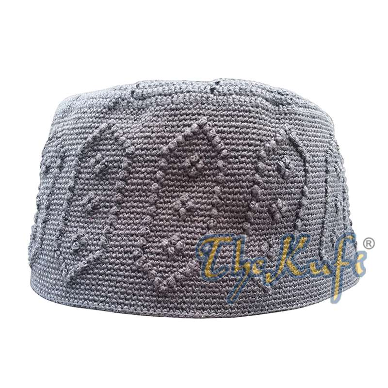 Black Open Weave Top with Knot Hand crochet Kufi Hat