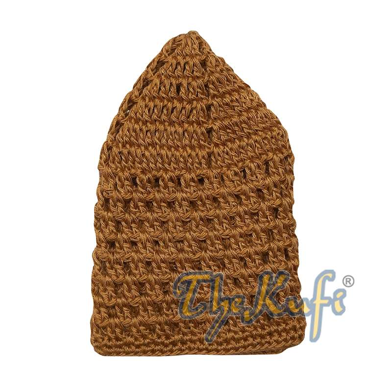 Hand-crocheted Cotton Rust Brown Skull Cap Kufi Comfortable Head Cover