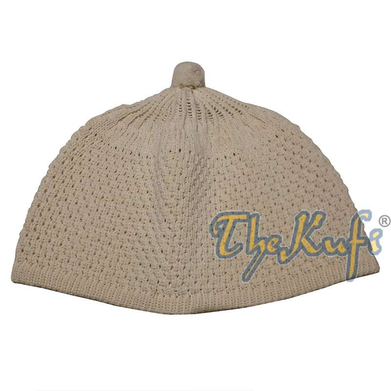 Cream Color Turkish-style Knit Stretchy Beanie Hat One-size