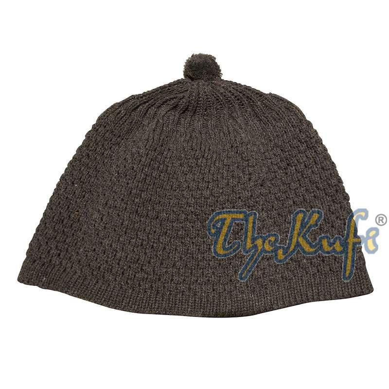 Dark Gray Turkish-style Knit Stretchy Beanie One-size