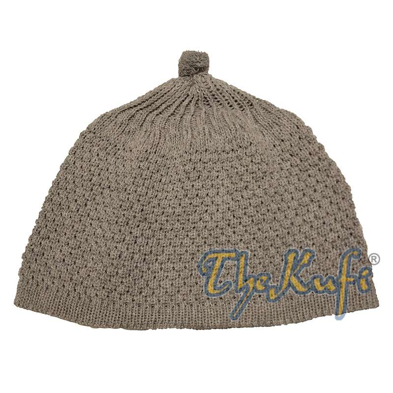 Gray Turkish-style Knit Stretchy Beanie Hat One-size