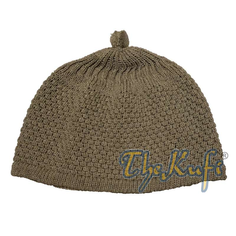 Light Olive Green Turkish-style Knit Stretchy Warm Beanie Hat