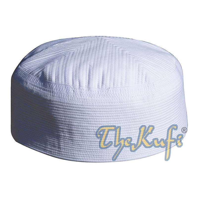 White Rigid Quilted Kufi