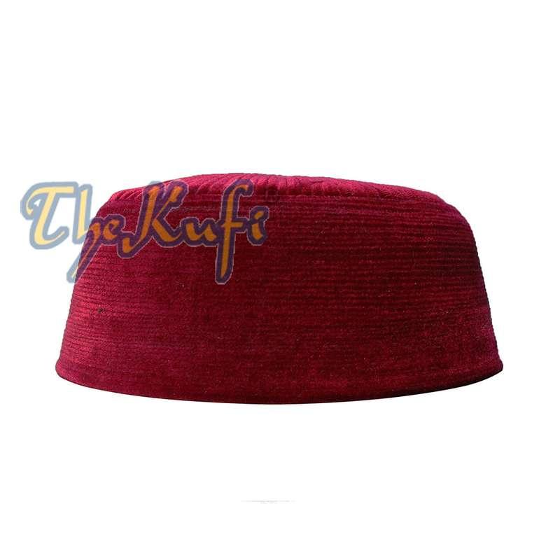 mooth Textured Velvet Kufi Hat