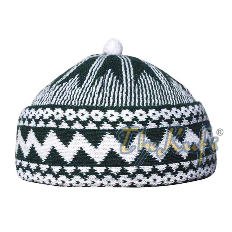 zigzag beanie kufi hat